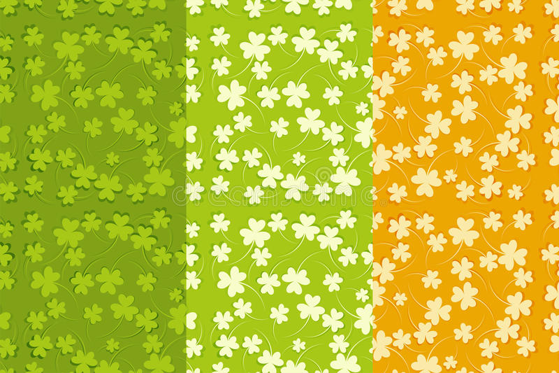 Fondos inconsútiles del día de St.Patricks fijados ilustración del vector