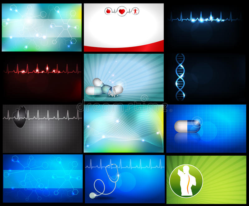 Fondos médicos o tarjetas de visita libre illustration