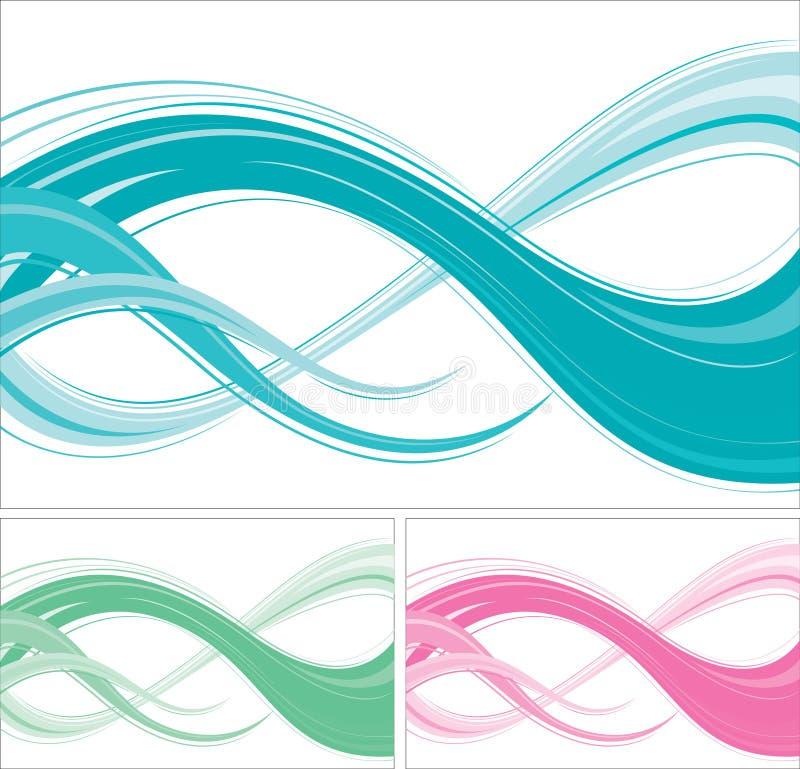 Fondos ondulados abstractos ilustración del vector