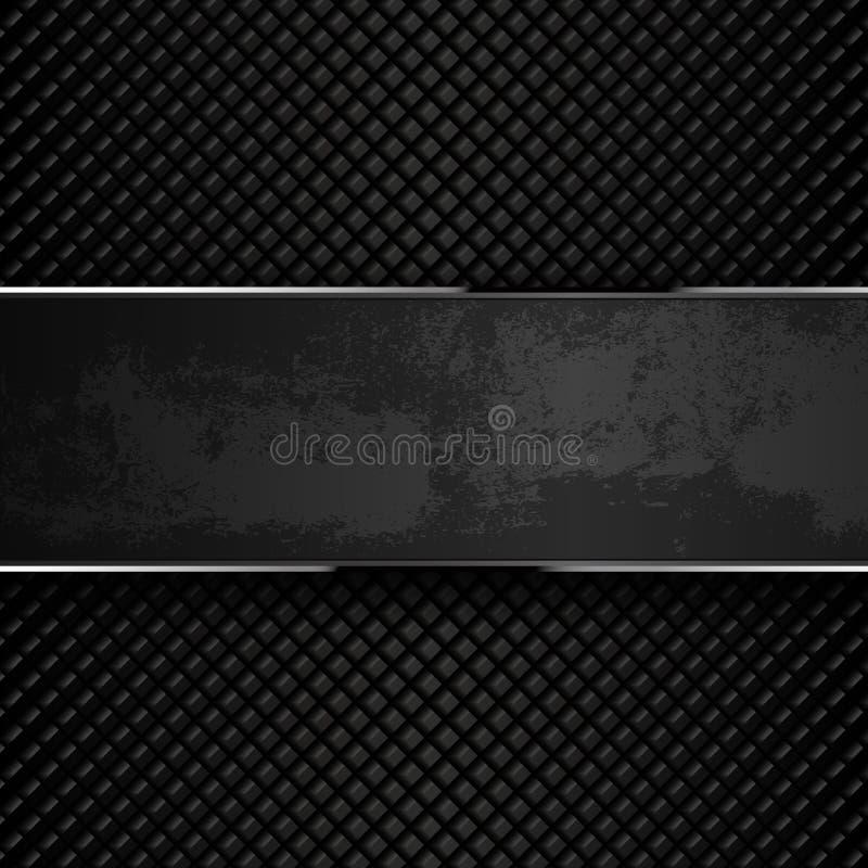 Fondos oscuros del metal del grunge Ilustración del vector imagen de archivo