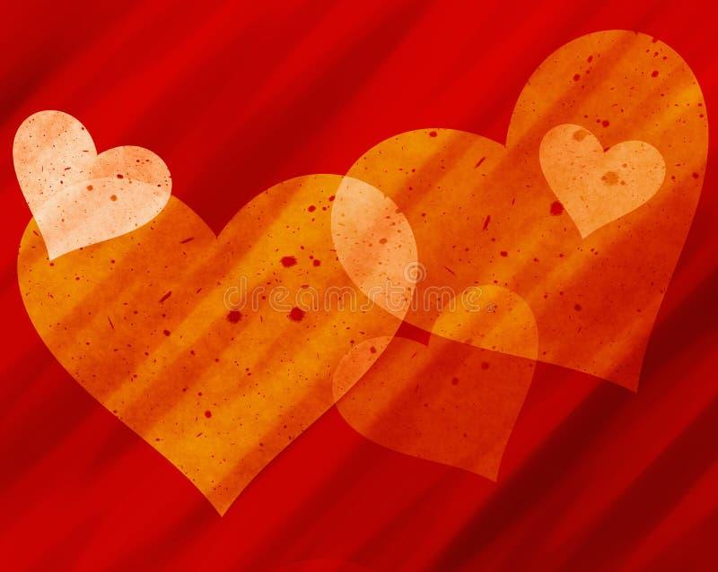 Fondos pintados de los corazones libre illustration