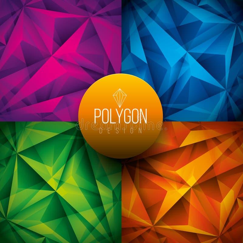 Download Fondos poligonales ilustración del vector. Ilustración de construcción - 64213232