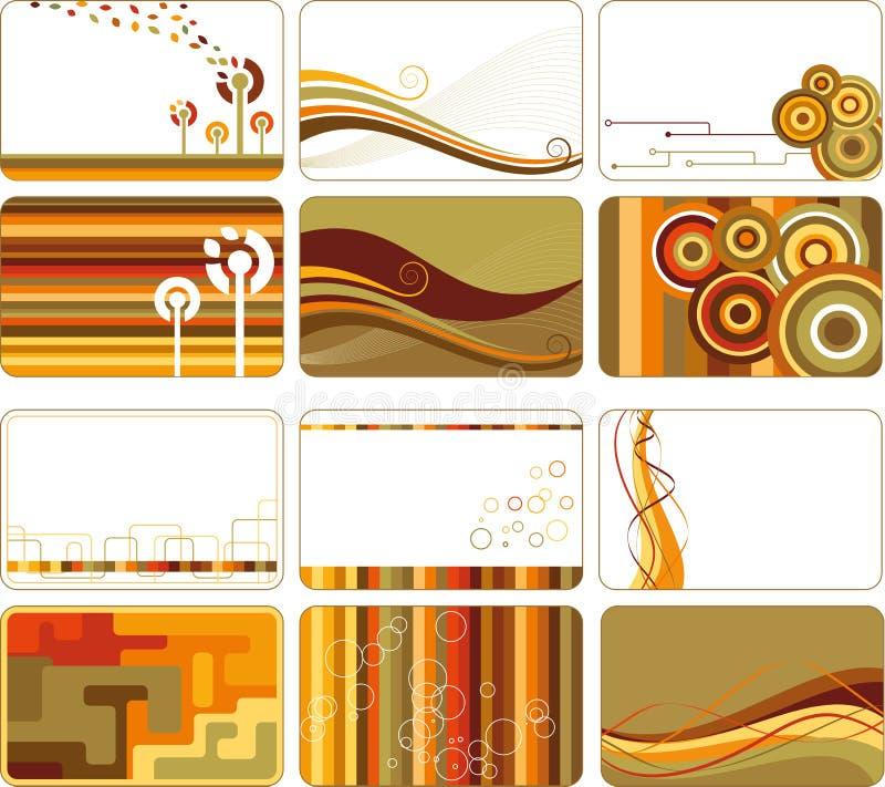 Fondos retros abstractos ilustración del vector