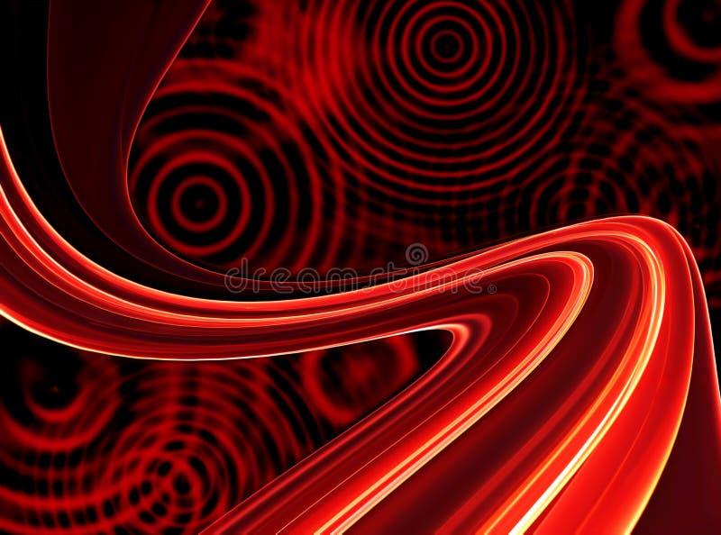 Fondos rojos retros con los círculos ilustración del vector