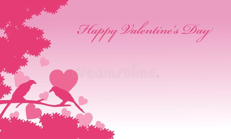 Fondos románticos del pájaro del día de San Valentín ilustración del vector