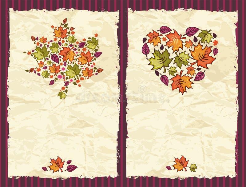 Fondos textured otoño ilustración del vector