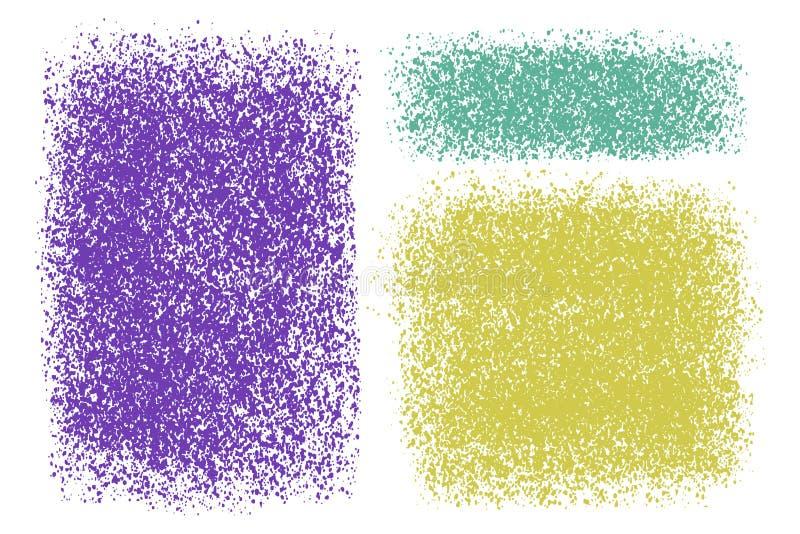 Fondos texturizados coloridos del vector Abstracto, salpicado, sucio, sistema de la textura para el diseño Contextos dibujados ma libre illustration