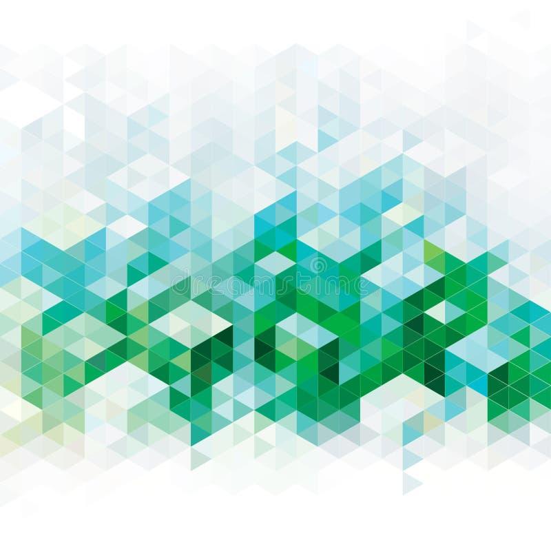 Fondos verdes abstractos stock de ilustración