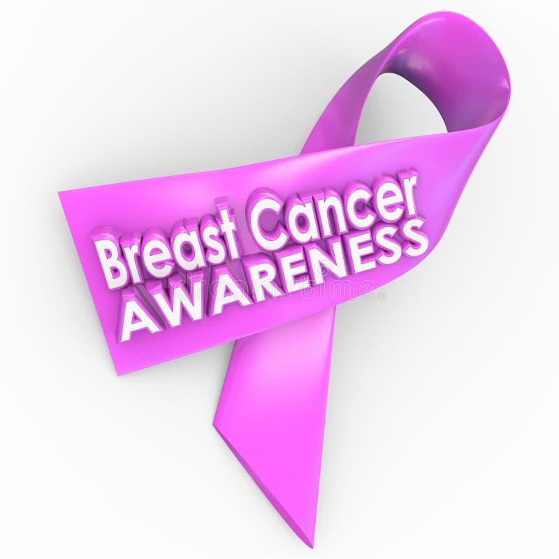 Fonds de cause de traitement de ruban de rose de conscience de cancer du sein - éleveur illustration libre de droits