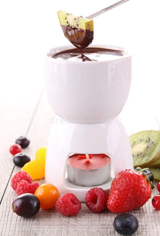 fondue шоколада стоковые изображения rf