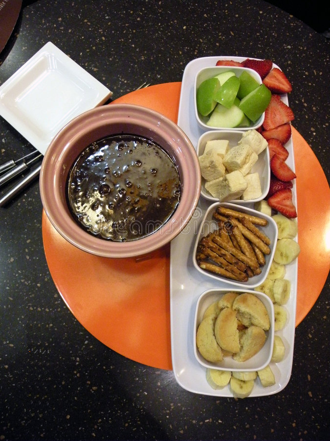fondue шоколада стоковые фотографии rf