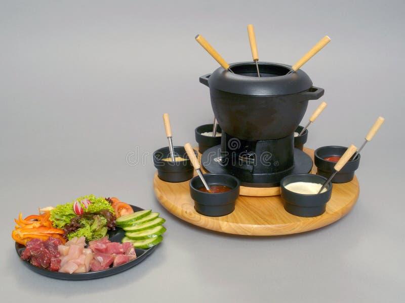 Download Fondue 1 stock photo. Image of gourmet, garnish, meat - 6485662