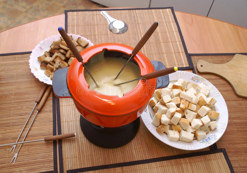 The fondue stock photography