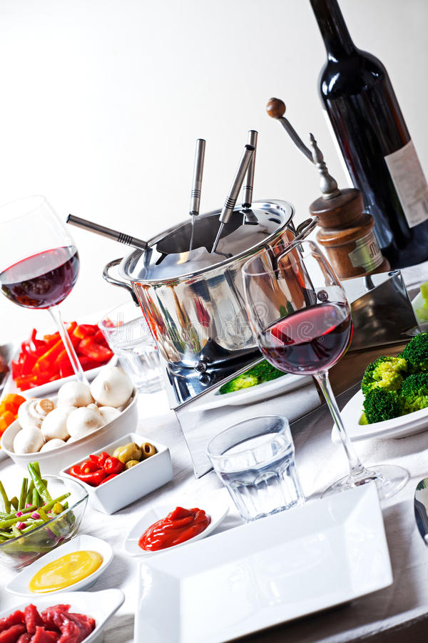 fondue στοκ φωτογραφία με δικαίωμα ελεύθερης χρήσης