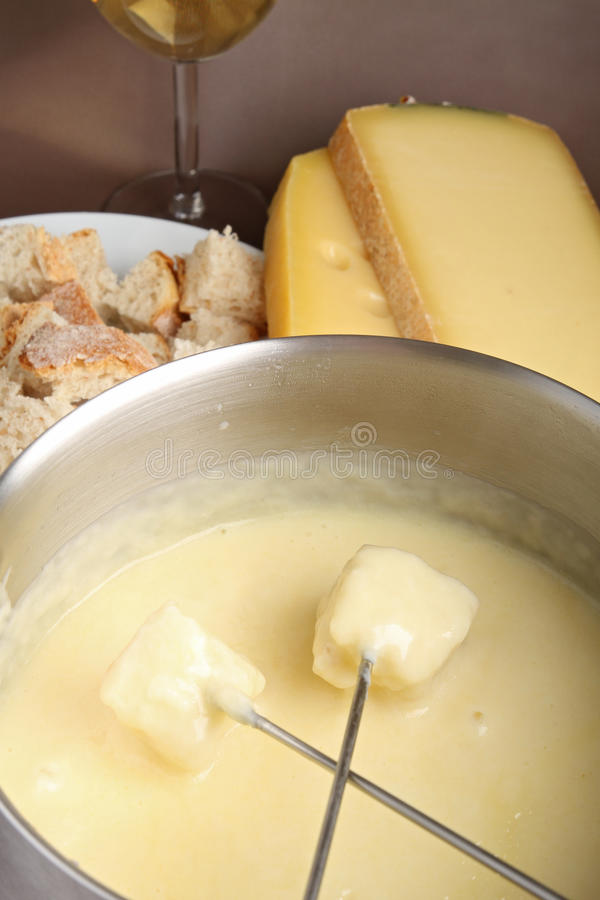 Fondue de fromage image stock