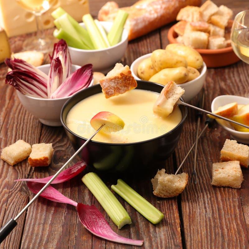 Fondue de fromage photographie stock