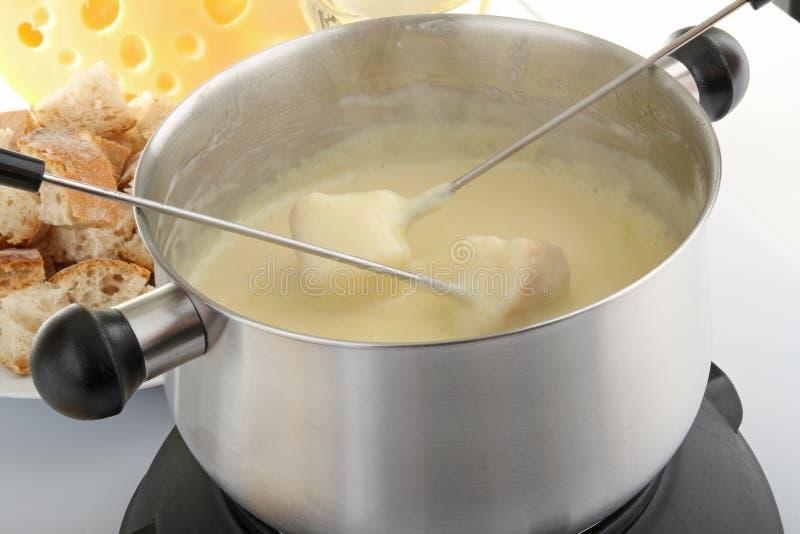 Fondue de queijo imagens de stock