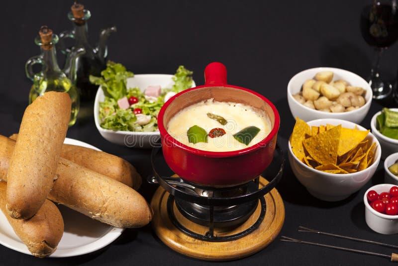 'fondue' de queso foto de archivo libre de regalías