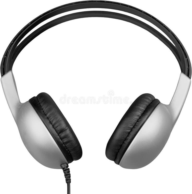 Fones de ouvido brancos modernos isolados no branco foto de stock
