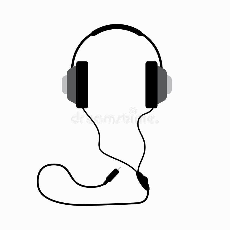 Fones de ouvido com fio Elemento isolado Ilustra??o do vetor ilustração royalty free