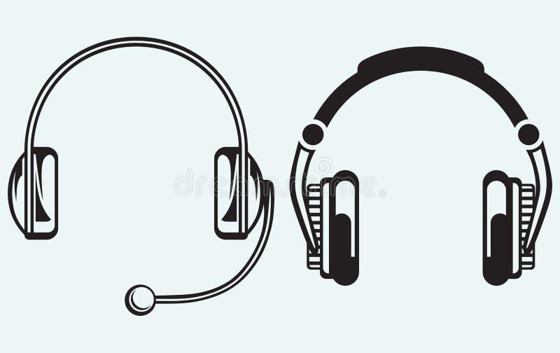 Fones de ouvido do ícone ilustração royalty free