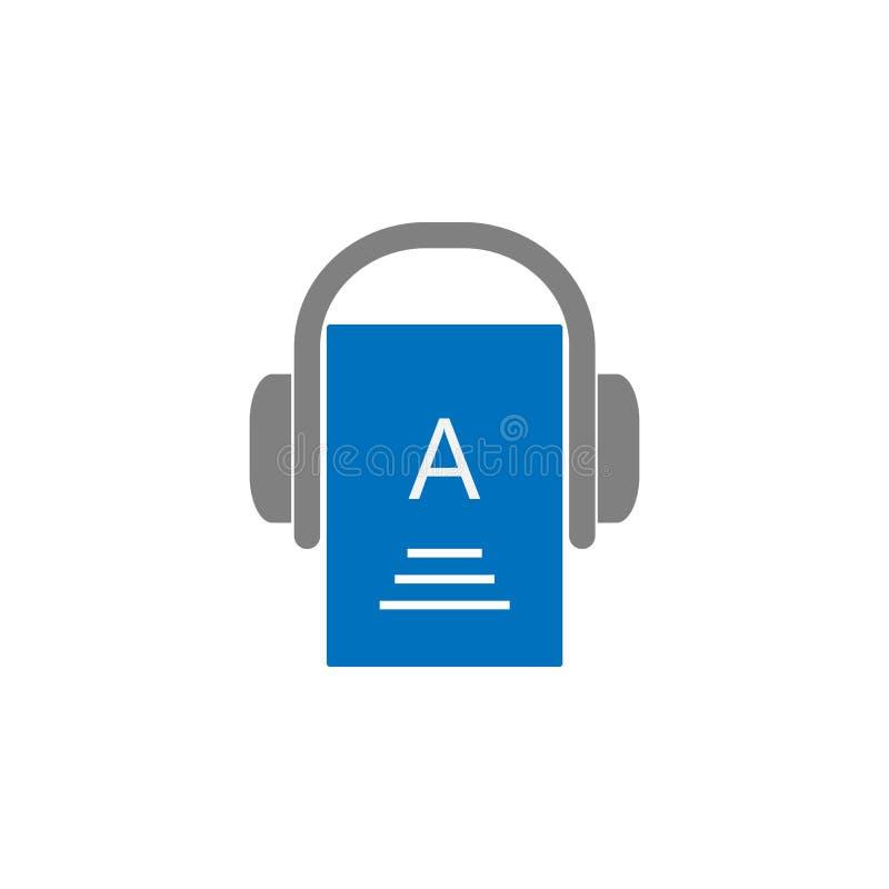 Fones de ouvido e ícone da informação Elemento do ícone da educação para apps móveis do conceito e da Web Fones de ouvido detalha ilustração stock