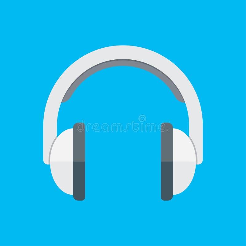 Fones de ouvido no estilo liso ilustração do vetor