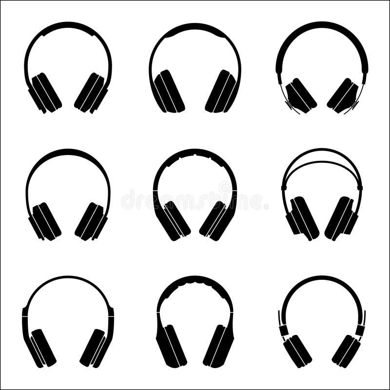 Fones de ouvido para a experiência audio Ícone liso do equipamento audio ilustração royalty free