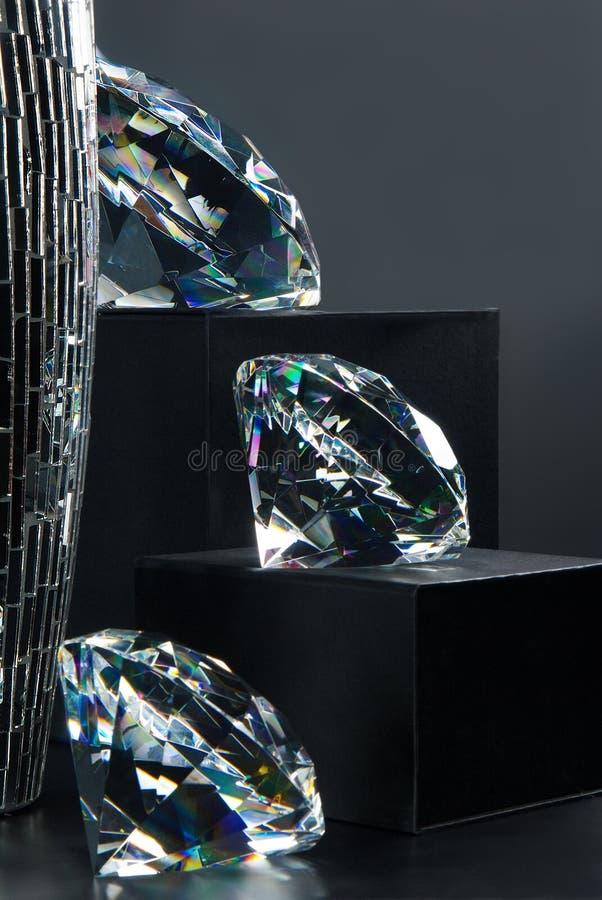 Fonkelend diamantenjuweel stock foto