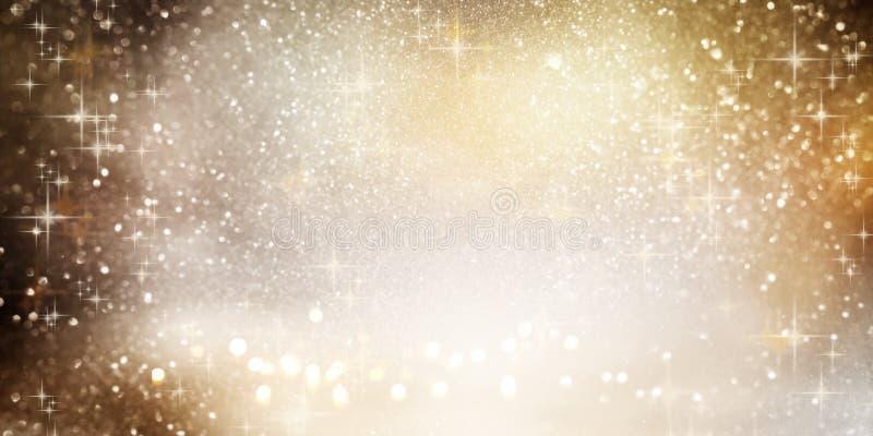 Fonkelende bokeh achtergrond met Kerstmissterren royalty-vrije illustratie