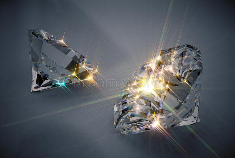 Fonkelende diamanten stock illustratie