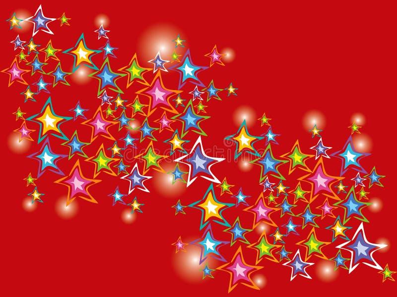 Fonkelende feestelijke sterren royalty-vrije illustratie