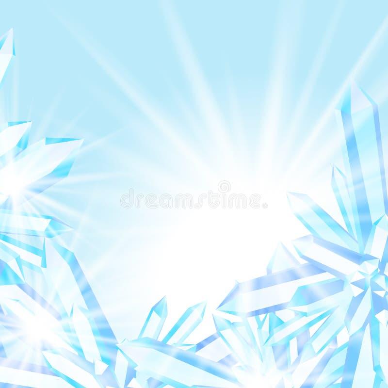 Fonkelende ijskristallen stock illustratie