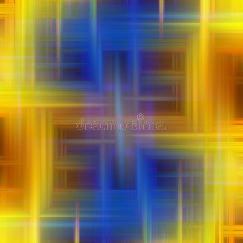 Fonkelende lijnenachtergrond in gele en blauwe tinten vector illustratie