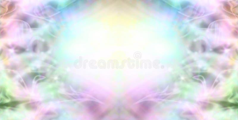 Fonkelende Melkachtige Wispy-Grensachtergrond vector illustratie