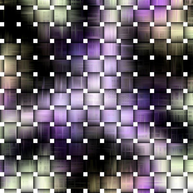 Fonkelende netwerkachtergrond in donkere en blauwe tinten stock illustratie
