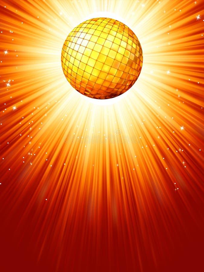 Fonkelende oranjerode discobal. EPS 8 vector illustratie
