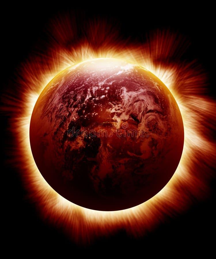 Fonkelende rode aarde vector illustratie