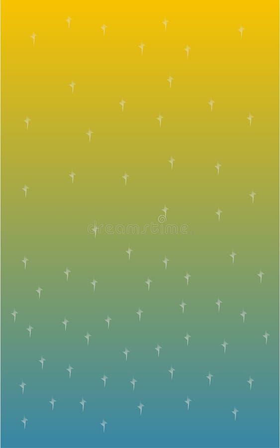 Fonkelingen op 2 kleurenachtergrond stock illustratie