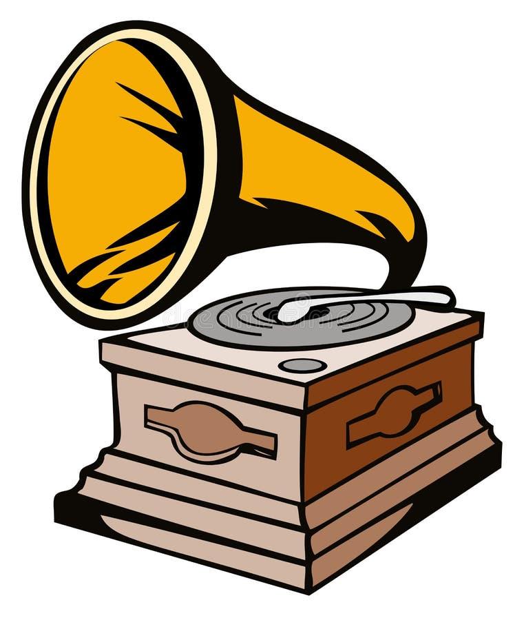 Fonograaf stock illustratie
