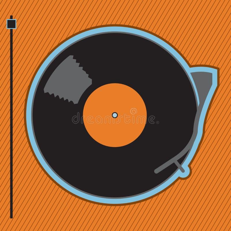 ' fonograf ' royalty ilustracja