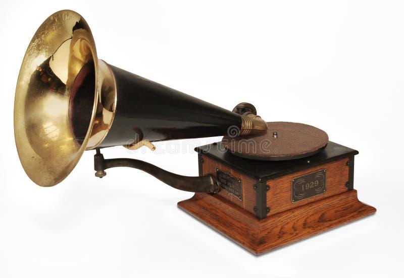 Fonografo del Victrola fotografia stock libera da diritti