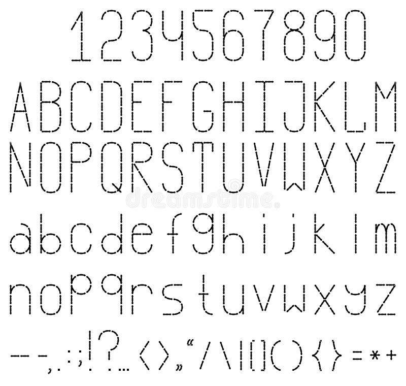 font stock illustratie
