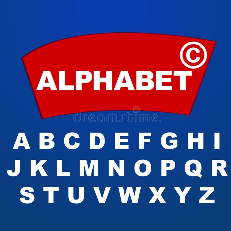 Font alphabet for company brand logo name vector illustration