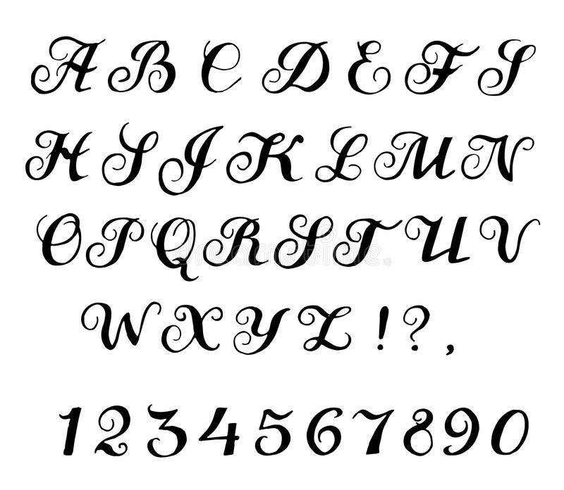 Font calligraphy stock vector illustration of script