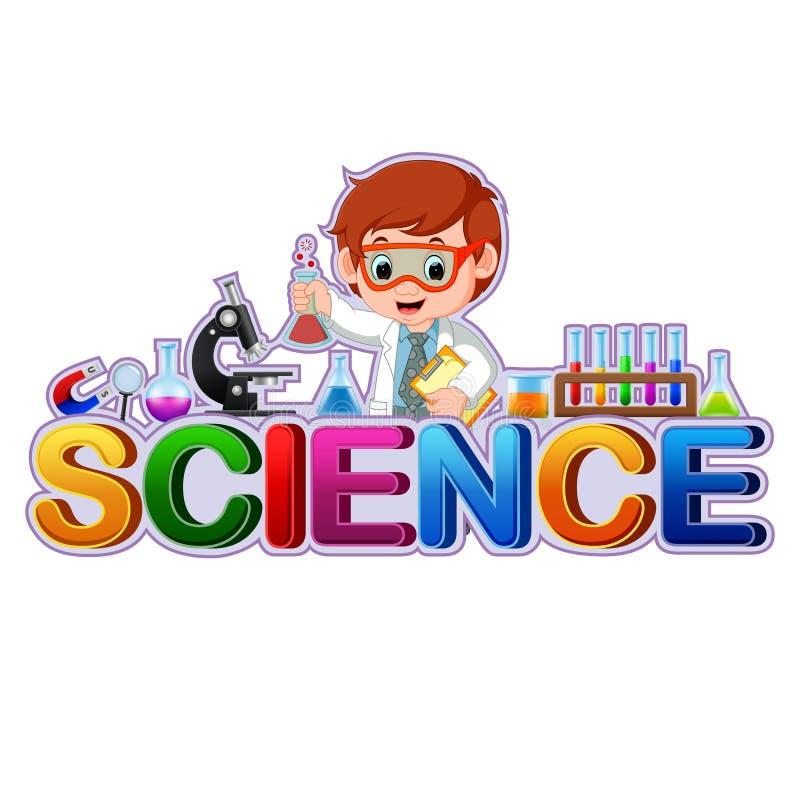 Font design for word science. Illustration of Font design for word science royalty free illustration