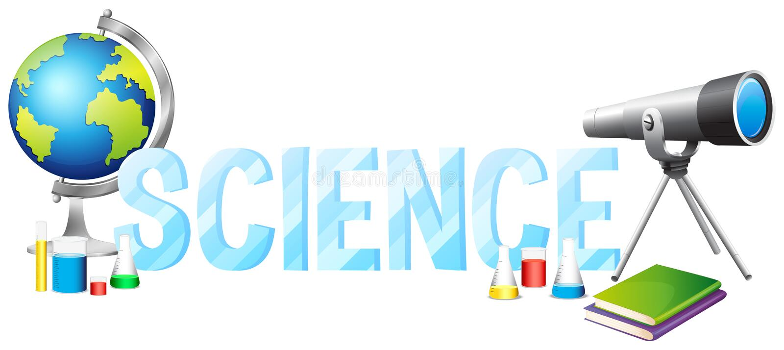 Font Design With Word Science Stock Vector - Illustration ...