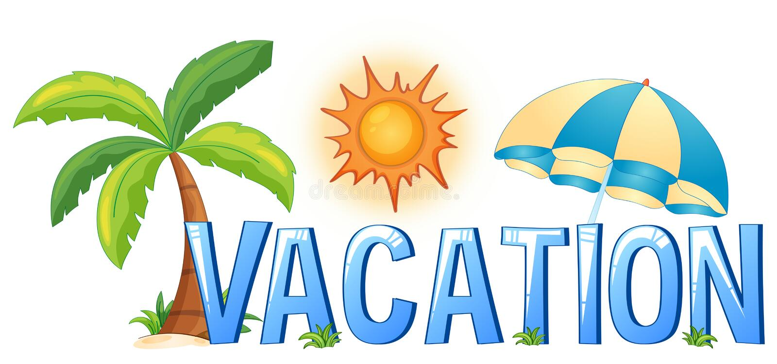 Font Design With Word Vacation Stock Vector - Illustration ...