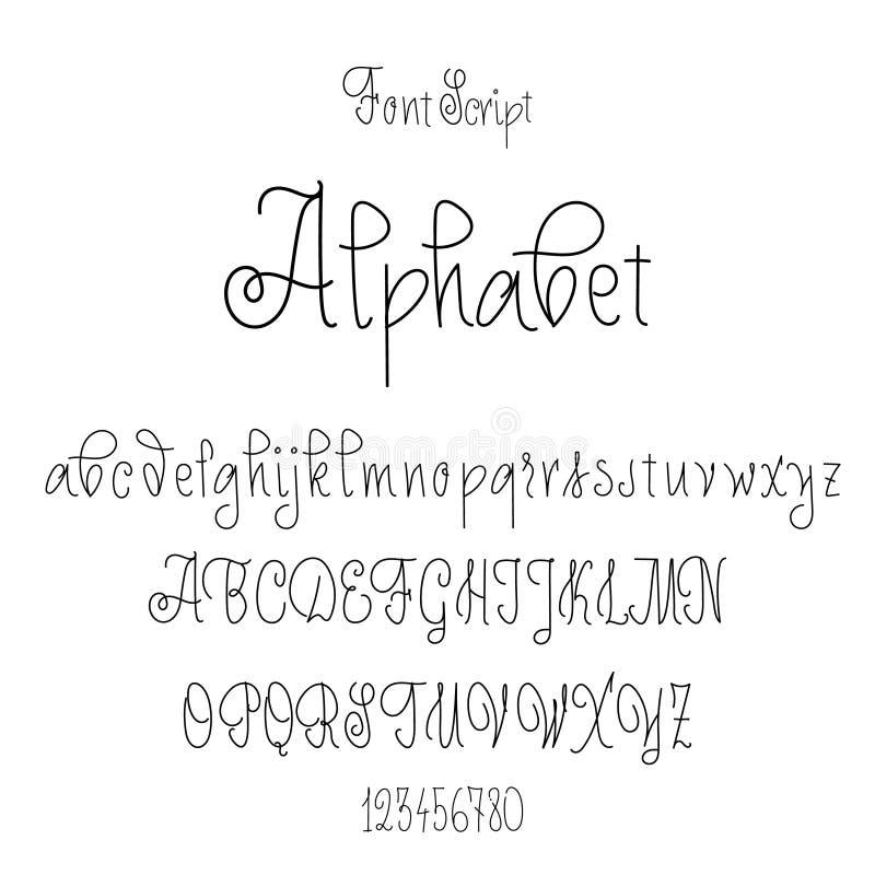Download Font Drawn On The Basis Of Handwriting Calligraphy Modern Cursive Script Brush Stock