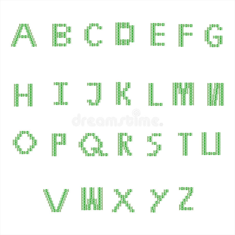 Font green royalty free stock photos